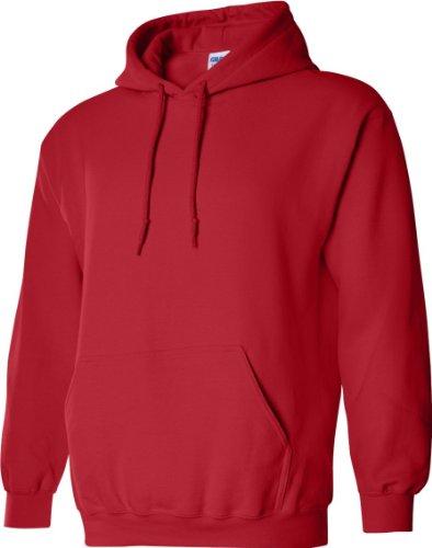 À Gildan Pour Rouge Homme Capuche Sweatshirt p7YqAcnOpd