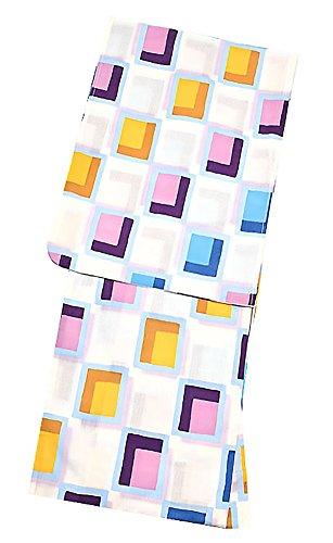 ウェブ遺体安置所凍る[ KIMONOMACHI ] オリジナル 浴衣3点セット「パープルタイル」 TL浴衣+浴衣帯+下駄フリーサイズ_GT-F_