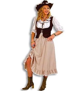 Westernlady Lilly Wilder Westen Country Damen Kostum Mit Weste Gr 40