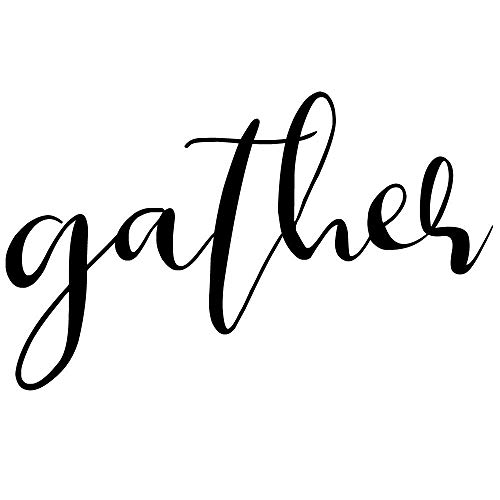 CrafteLife Gather Wall Decal | Large (21x13 inch) Wall Sticker | Home Decor Vinyl Wall Quote | Easy Install Gather Sign Wall Decor Sticker | Living Room Kitchen or Dining Room Decoration | Wall Quote