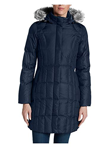 - Eddie Bauer Women's Lodge Down Parka, Dusted Indigo Regular M Regular