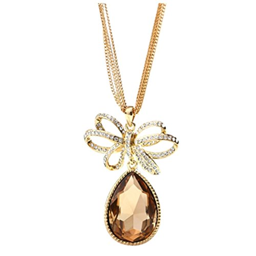 NL-12036C2 2016 Alloy Inlaid Crystal Women's Necklace
