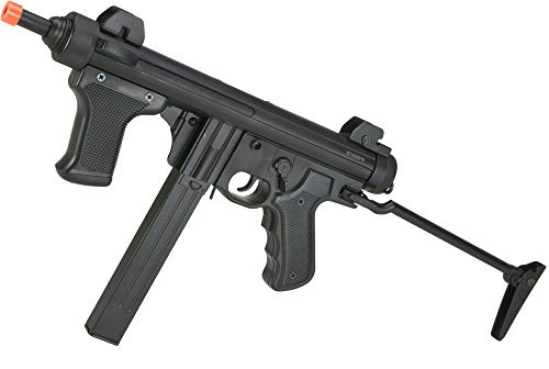 Evike S&T Model 12 Full Metal Airsoft AEG Sub-Machine Gun with Folding Stock - Black