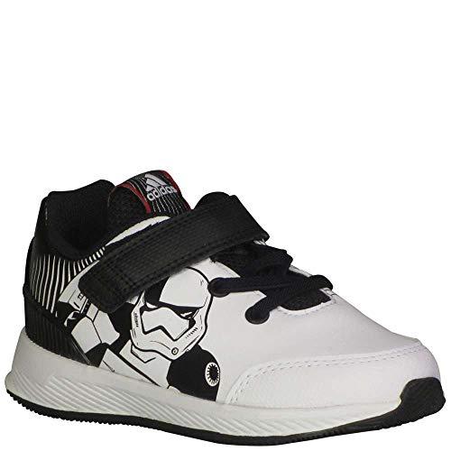 adidas Toddler RapidaRun Starwars Girls Fashion Sneakers Core Black/Cloud White/Scarlet 8.5 M US Toddler -