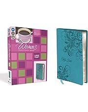 NIV, Women's Devotional Bible, Large Print, Leathersoft, Teal