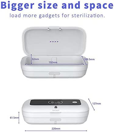 Jewelry 3 in 1 UV Phone Sanitizer Box /& 15W Fast Wireless Charger Glasses,Makeup Brush U V Cleaner Box  3 in 1 Charging Cable/… Watches