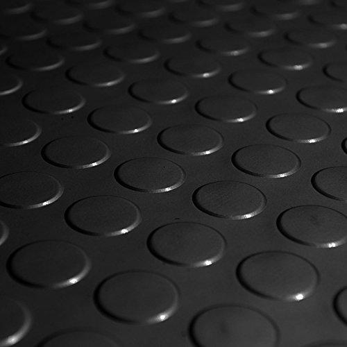 Herco 3 X 10 Raised Radial Coin Dot Vinyl Flooring Mat