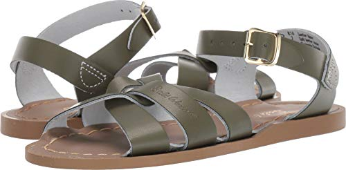 Salt Water Sandals by Hoy Shoes Baby Girl's The Original Sandal (Toddler/Little Kid) Olive 9 M US Toddler