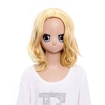 SureWells Golden Long Curlly Wig Hetalia France Cosplay Wigs Costume Wigs