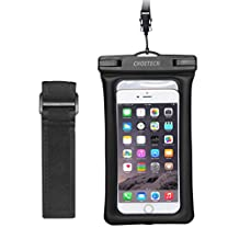Floating Waterproof Case, CHOETECH Clear Transparent Cellphone Waterproof, Dustproof Dry Bag With Armband & Neck Strap for iPhone 7,7 Plus,6s, 6s Plus, Samsung Galaxy S7, S6 and All Devices Up to 6 Inches