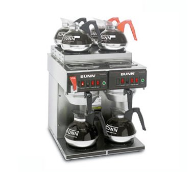 Bunn 12 Cup Automatic Coffee Brewer with 4 or 6 Warmers -CWTF-4/2-0011