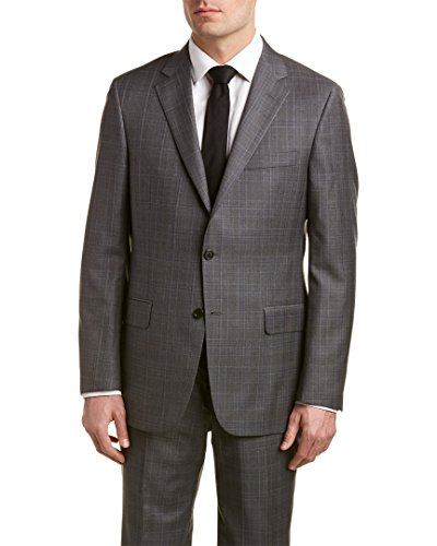 Hickey Freeman Mens Milburn II Wool Suit With Flat Front Pant, 44L, - Hickey Suits Freeman Mens