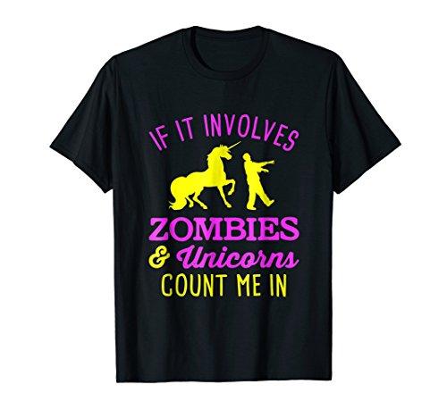 (Cute Halloween T-shirt - Zombies - Unicorns -)