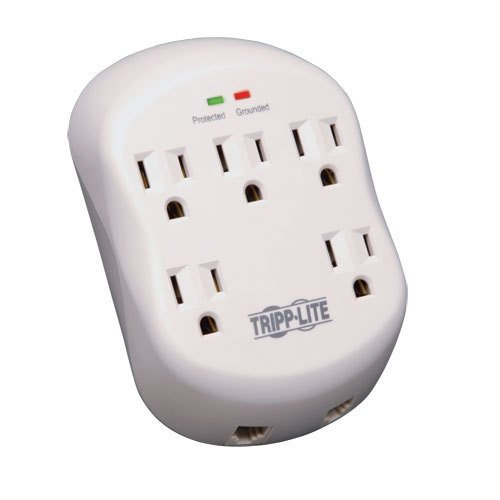 Tripp Lite Surge Protector Wallmount Direct Plug In 5 Outlet RJ11 1080 Jls