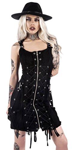 Robe Manche Sans Noir Femme Uni Killstar pxwqa1w4