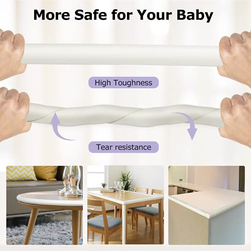 41ng2uOaIQS Baby Proofing Edge Corner Protector 16.4 ft Edge + 20 Corners, Momcozy Table Bumper Guard, Soft Rubber Foam Guard Pre-Taped Baby Safety Corners Cushion,Heavy-Duty, White    Product Description