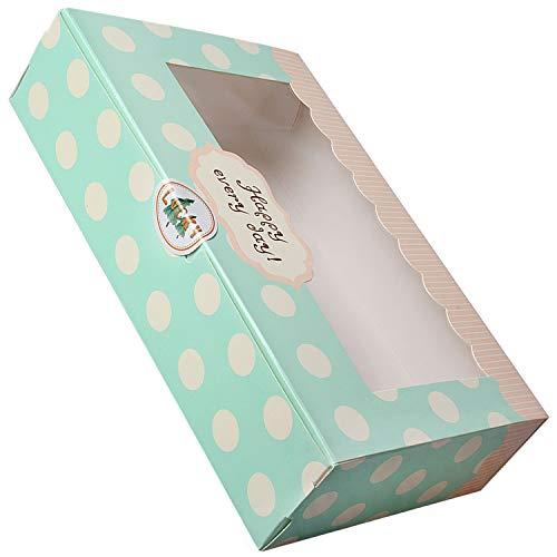 Lvcky 12 Stks Holten Papier Cake Box Cookie Cupcake Gebak Verpakking Gift Dozen Bakkerij Container Set 8 inch