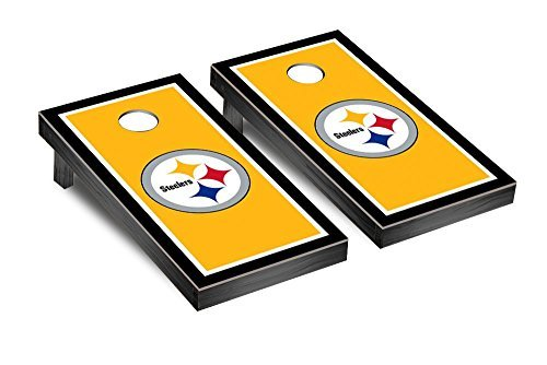 NFL Pittsburgh Steelers Border Version Football Corn hole Game Set One Size Fuchsia [並行輸入品]
