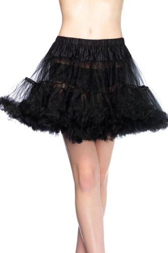 Leg Avenue Plus Size Petticoat, Black, 1X-2X