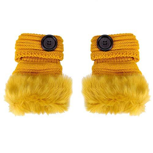 Womens Wrist Fingerless Winter Warm Gloves Mittens XOWRTE - Ssg Winter Mittens