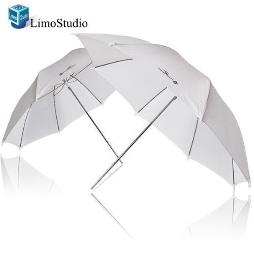 LimoStudio 2 x 33 Studio Lighting Umbrellas Translucent White soft Umbrella, AGG124-A by LimoStudio
