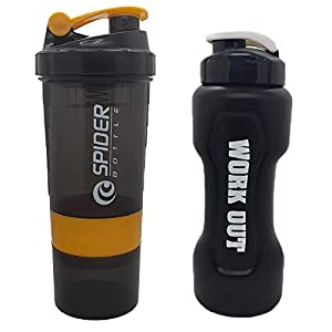 True Indian Unique Special Combo Pack of – Gym Shaker/Protein Carry Bottle/Gym Shaker Bottle & Water Bottle for Gym|Gym…