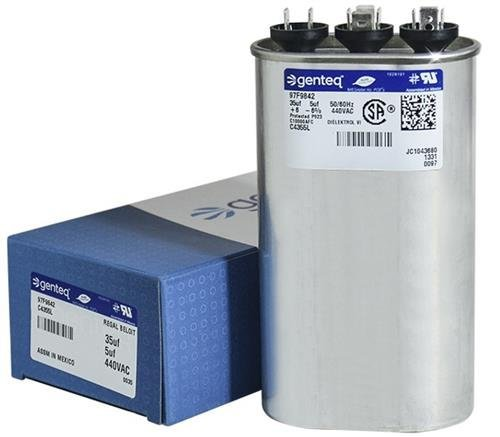 - Jard 12885 - 35 + 5 uF MFD x 440 VAC Genteq Replacement Dual Capacitor Oval # C4355L / 97F9842