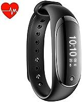 Pulsera Inteligente Smartband Bluetooth,Smart watch, Monitor de Ritmo cardiaco,Rastreador fitness, Contador de calorías, Podómetro (contador de pasos), Pantalla táctil, Pulsera deportiva(Silver)