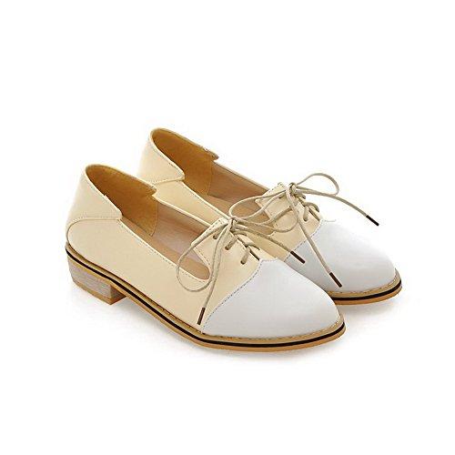 Balamasa Womens Tweekleurige, Kant-en-klare Urethaan Flats-schoenen Geel