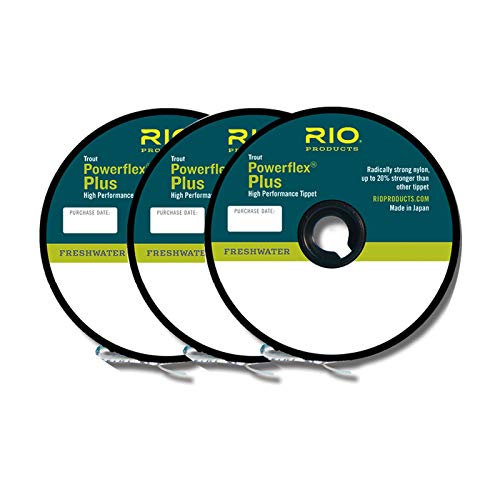 Rio Fly Fishing Tippet Power Flex-Plus Tippet 3 Pack 0X-2X Fishing Tackle, Clear