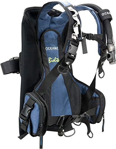 - Oceanic Biolite Travel BC/BCD Ultra Lightweight Weight Integrated Traveling Buoyancy Compensator (LG  (38 lbs of lift)) (Renewed)