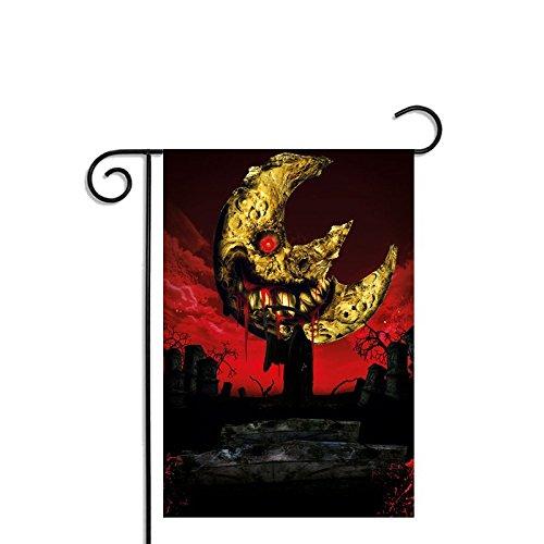 Yohoba Halloween Soul Eater Moon Garden Flag Polyester Outside Banners 12x18 Inch