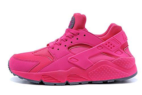 Women's Retro Sneakers Heavy-Bottomed Elevator Shoes Pink 38EU