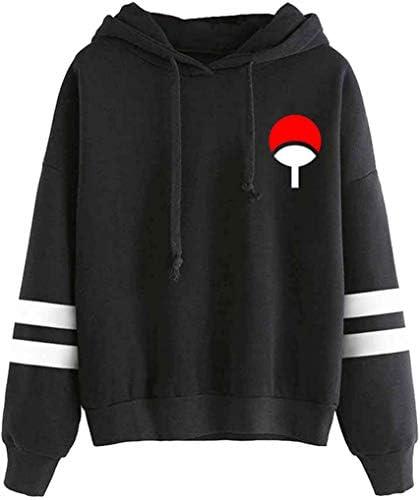 FLYCHEN Women's Fashion Hoodies Naruto Long Sleeve Anime Sweatshirt