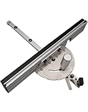 Miter Gauge Precision Table Saw Miter Gauge With Aluminium Push Handle Tenon Limit Removable Behållande Disc SilverFine Production