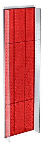 New Retails Red Plastic Pegboard Powerwing Display 14''w x 44''high by Pegboard Powerwing Display