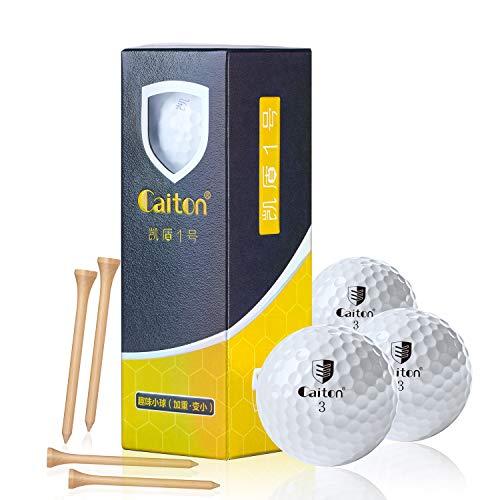Caiton Super Golf Balls, Super Long Maximum Distance Golf Balls Women 1/4 Dozen 4 Golf Tees by Caiton