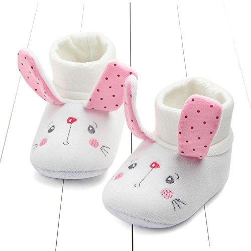 Clode® Neugeborene Kleinkind erste Wanderer Baby runde Kappe Wohnungen weiche Hausschuhe Schuhe Rosa
