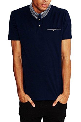 Threadbare Herren Poloshirt, Einfarbig schwarz schwarz Small Gr. Small, navy
