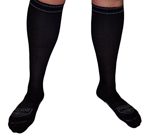 Compression Socks, Large Feet Legs - Big Foot and Leg with Ankle and Arch Support, Firm Gradient Pressure 28 mmHg, Knee High Plus Size Premium Hosiery, Medical Grade, Soft Thick Cotton, Unisex X-L by Boston Enterprises (Image #2)
