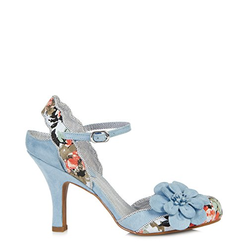Protector Divino Sole Belle Pumps Women's Spotty Sky Blue Free amp; Shoo Fabric Heidi Ruby Slingback gaA141