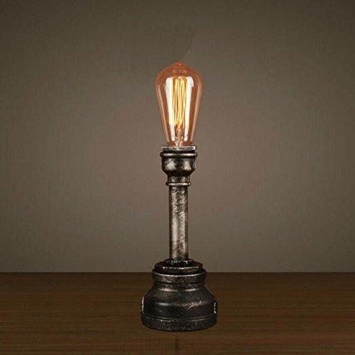 Perfectshow Retro Loft Minimalist 1-Light Mini Industrial Steampunk Desk Lamp Water Pipe...
