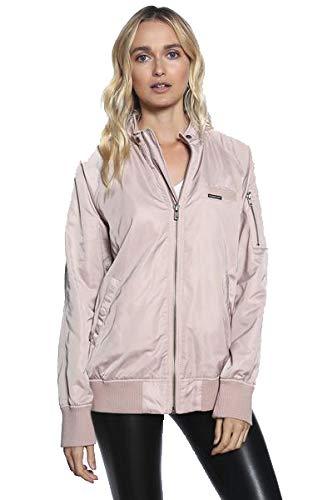 - Members Only Women's Washed Satin Boyfriend Jacket