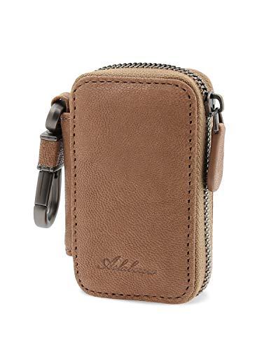 AslabCrew Genuine Leather Car Smart Key Case Remote Key Fob, - Beige Nappa Leather
