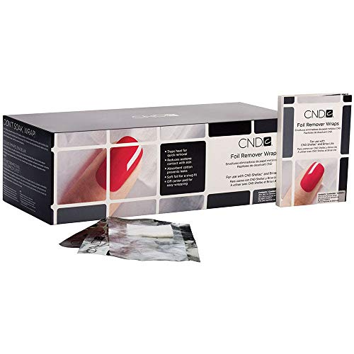 CND Shellac Brisa Lite Foil Remover Wraps, 250 Count (Best Nail Polish Remover Uk)
