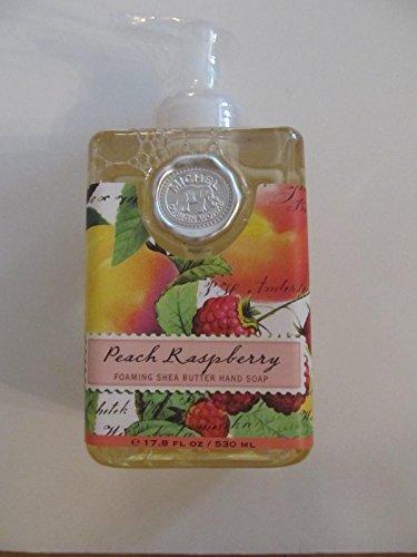 Michel Design Works Peach Raspberry Foaming Shea Butter Hand Soap 17.8 Fl (Raspberry Design)