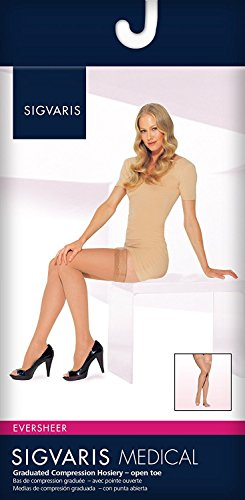 SIGVARIS Women's EVERSHEER 780 Open Toe Thigh High w/Grip-Top 30-40mmHg by SIGVARIS (Image #2)