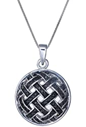 Vir Jewels Sterling Silver Black Diamond Pendant (1/2 CT) With 18 Inch Chain
