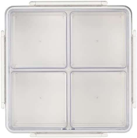 Amazon Com Lustroware Gourmet Palette Square Party Food Container White Food Savers Kitchen Dining