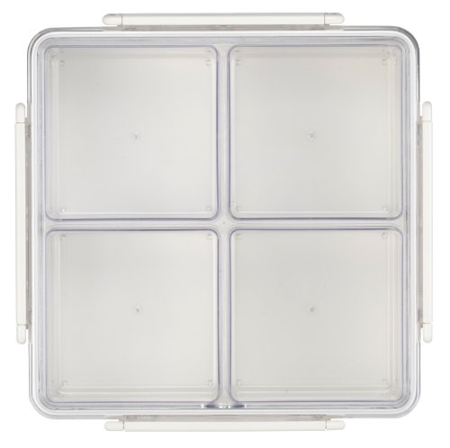 Lustroware B-258 AA Gourmet Palette Square Party Food Container, White